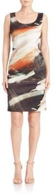 Lafayette 148 New York Rebecca Printed Sleeveless Dress