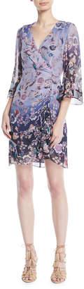 Nanette Lepore Ombre Kimono Mini Dress