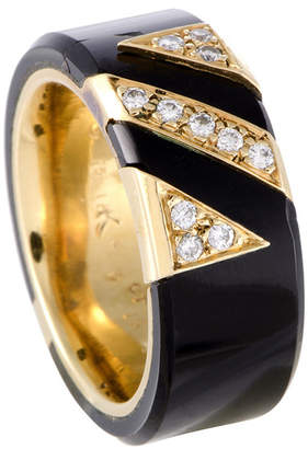 Van Cleef & Arpels Heritage  18K 0.13 Ct. Tw. Diamond & Onyx Ring