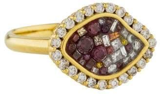 Plevé 18K Raspberry Mini East-West Diamond Ring