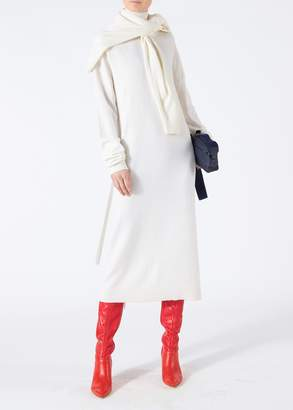 Tibi Merino Wool Tie Back Long Dress