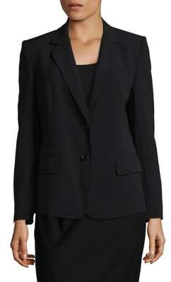 Donna Karan Notch Collar Blazer