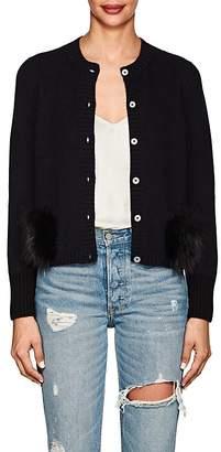 Barneys New York Women's Fur-Trimmed Cashmere Cardigan