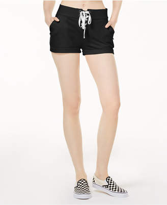 Material Girl Active Juniors' Cotton Terry Lace-Up Shorts, Created for Macy's