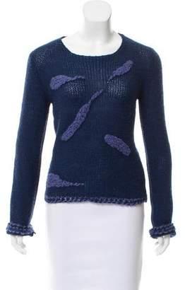 Emporio Armani Alpaca-Blend Embroidered Sweater