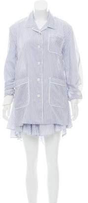 Sacai Striped Long Sleeve Dress