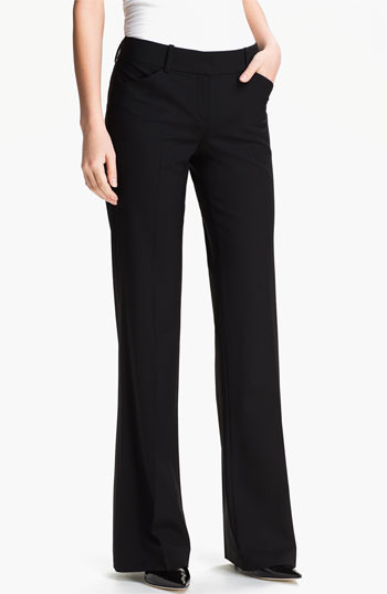 Theory 'Max C - Tailor' Pants Womens Black Size 12 12