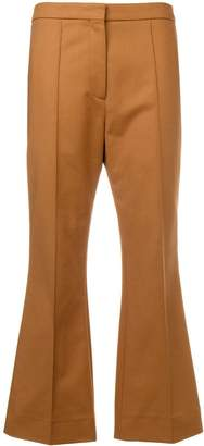 Rochas cropped flared trousers