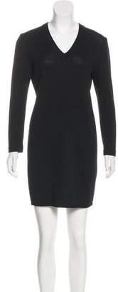 St. John Long Sleeve Sweater Dress