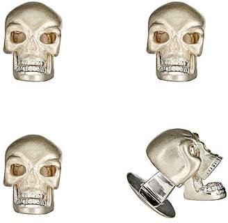 Deakin & Francis Men's Skull Shirt-Stud Set