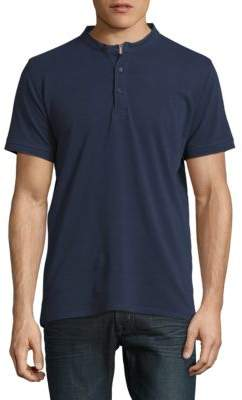 Highline Collective Banded Collar Cotton Henley