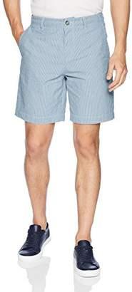Lacoste Men's Striped Seersucker Regular Fit Bermuda Shorts