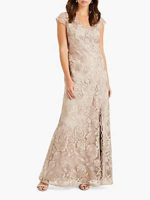 Phase Eight Collection 8 Velma 3D Lace Dress, Latte
