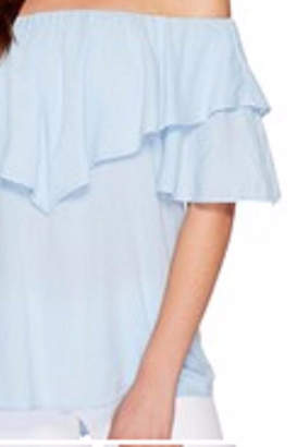 Heather Ruffle Off-Shoulder Top