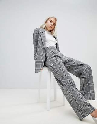 Weekday Wide Leg Check Trouser