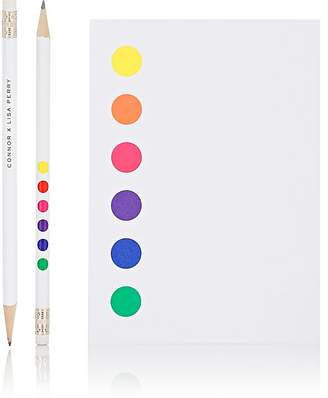 Lisa Perry CONNOR X Dot Notepad & Pencil Set