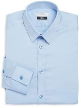Versace Trend-Fit Cotton Dress Shirt