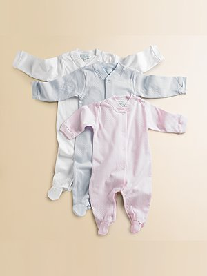 Marie Chantal Infant's Angel Wing Footie