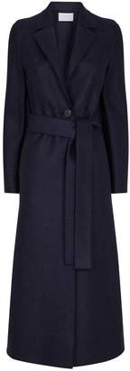 Harris Wharf London Long Belted Pressed Wool Coat