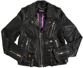 Diesel Studded Leather Biker Jacket