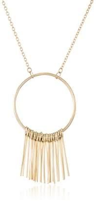 Soko Fringe Hoop Pendant Necklace (-tone)
