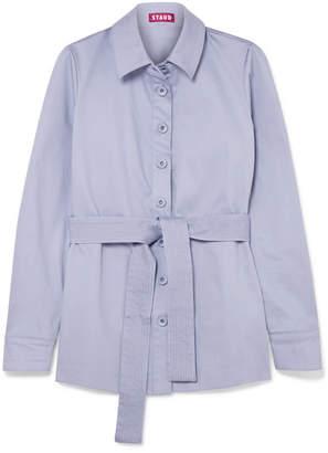 Sabrina STAUD Belted Stretch-cotton Jacket