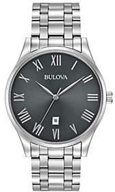 Bulova Men's Stainless Steel Classic Bracelet Watch