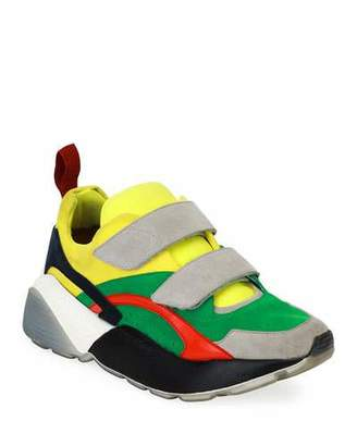 Stella McCartney Colorblock Grip-Strap Platform Sneakers