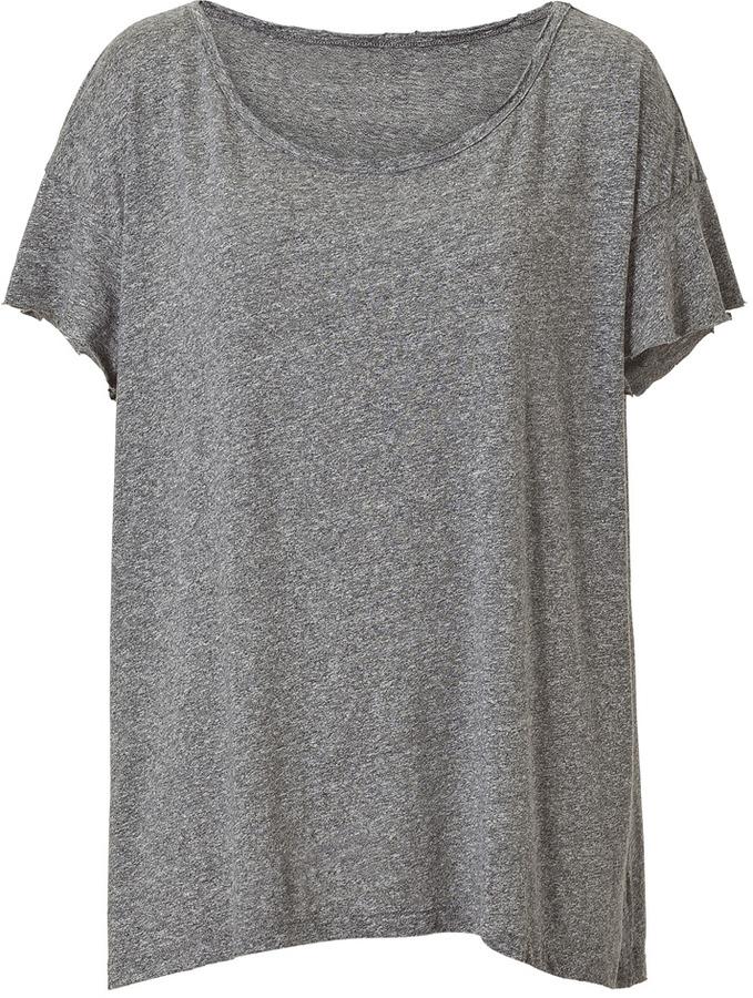 Current/Elliott Heather Grey Vintage Oversize T-Shirt