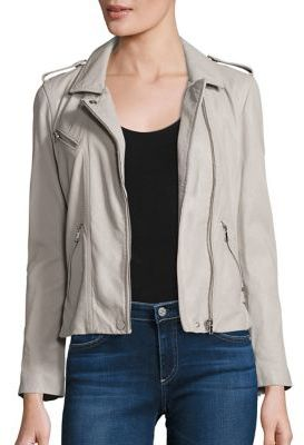 Rebecca Taylor Washed Leather Cropped Jacket $895 thestylecure.com