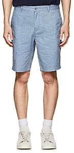 Barneys New York MEN'S SAILBOAT-PRINT COTTON TWILL SHORTS-LT. BLUE SIZE 36