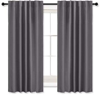 RYB HOME Blackout Curtains Thermal Insulated Drapes Décor Curtain Panels Rod Pocket/Back Tab Window Treatment Draperies Use with rods/Rings / Hooks for Bedroom