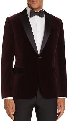 Z Zegna Slim Fit Velvet Tuxedo Jacket $1,045 thestylecure.com