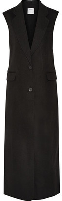 DKNY - Bonded Wool-blend Gilet - Black $800 thestylecure.com
