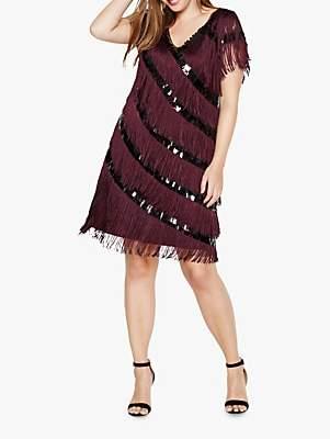 Lottie Fringe Dress, Deadly Nightshade
