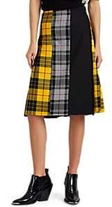 LE KILT Women's Patchwork Plaid Wool Kilt - Yellow, Gry, Black