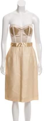 Dolce & Gabbana Satin Bustier Dress