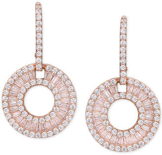 Macy's Cubic Zirconia Circle Drop Earrings in Sterling Silver