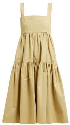 Three Graces London Cosette Cotton Dress - Womens - Green
