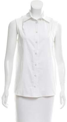 Misha Nonoo Sleeveless Button-Up Top