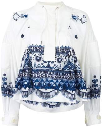 Sacai tribal lace printed blouse
