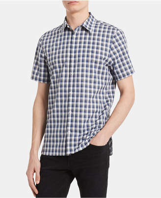 Calvin Klein Men Big & Tall Classic-Fit Yarn-Dyed Heathered Check Shirt
