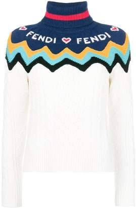 Fendi knitted logo sweater