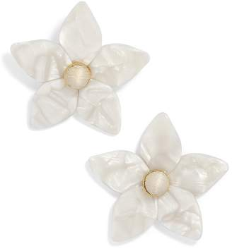 BaubleBar Amariella Acrylic Flower Stud Earrings