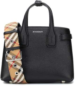 At Mytheresa Burberry The Baby Banner Leather Tote