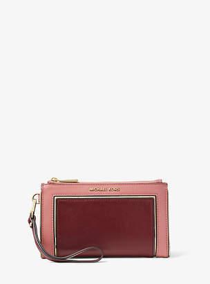 Michael Kors Adele Two-Tone Leather Smartphone Wallet