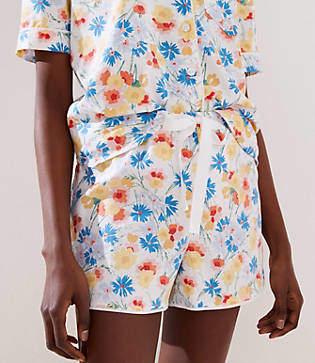 LOFT Floral Pajama Shorts