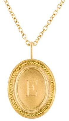 """Jamie Wolf 18K Oval Initial """"E"""" Pendant Necklace"""