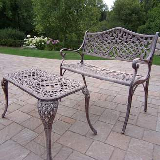 Kohl's Mississippi Cast Aluminum Outdoor Settee Bench 2-piece Set