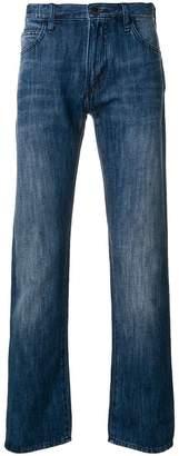 Emporio Armani mid-rise straight-leg jeans